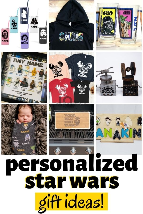 Star Wars gifts that can be personalized.