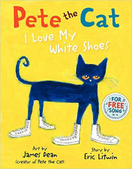 Pete the Cat I Love My White Shoes is one of our 100 best picture books for boys picks.