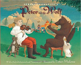 Peter and the Wolf picture book with CD is a title you should have in your library if you have boys.