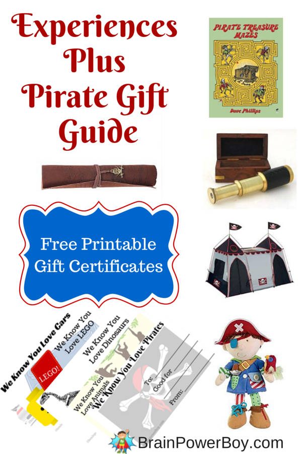 Experiences Plus Pirate Gift Guide for Boys