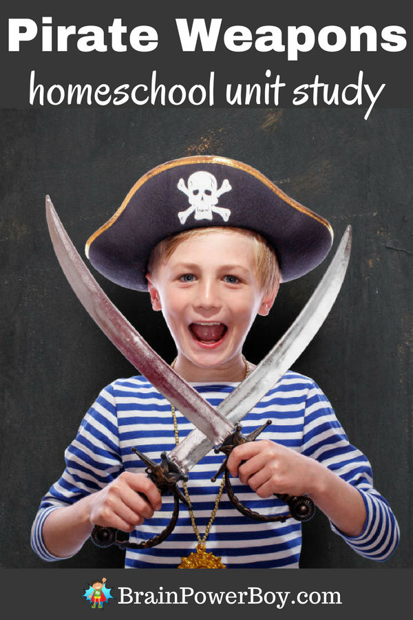 Got a pirate fan? Turn that interest into a learning opportunity! Get everything you need to know about pirate weapons as well as links to a whole pirate homeschool unit study. Click to get it all.