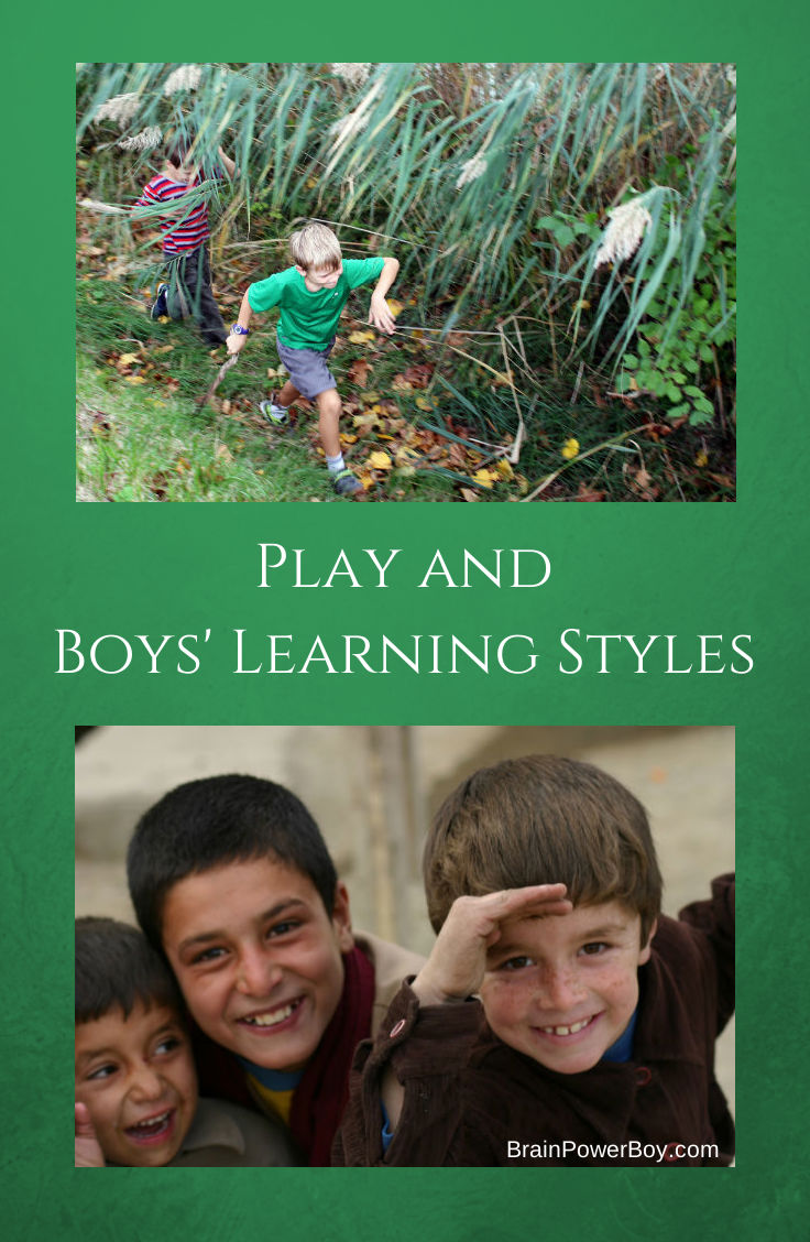 Combining Play and Boys Learning Styles can lead to great opportunities for growth.