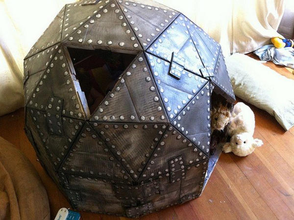 Playhouse Dome made from Cardboard