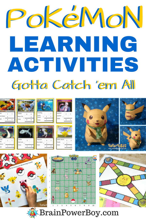 Pokemon Learning Activities your kids and students are sure to go for! Don't miss the Pokemon games, Pokeman math, Pokeman language, plus Pokemon art, science, writing, history and more. Click the image to access the ideas now.