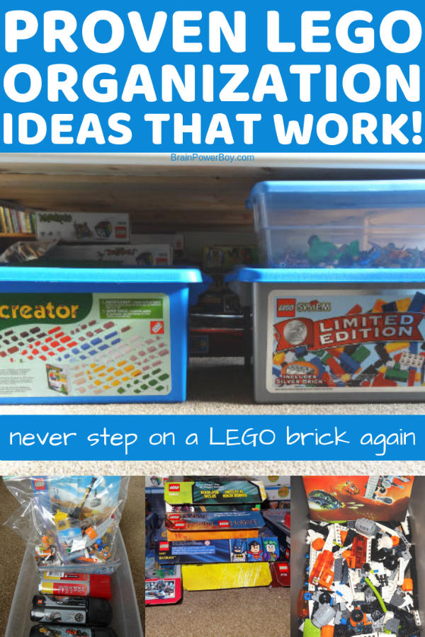 Don't miss these proven tips for organizing LEGO. We tried a lot of different ideas and these are the ones that actually worked!