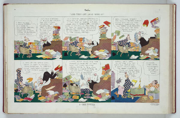The Lawyer Comic Image Puck Magazine Comic by Rube Goldberg