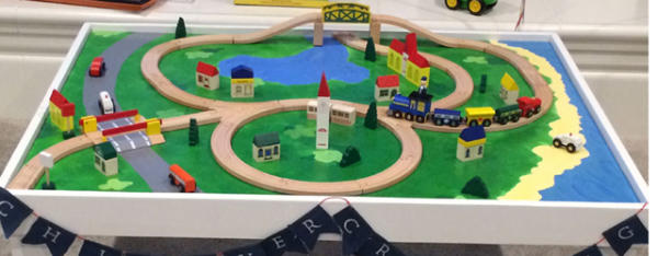 Quick to Make Table for Wooden Trains
