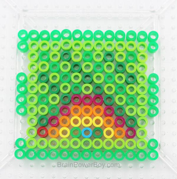 Perler Bead Rainbow Wall