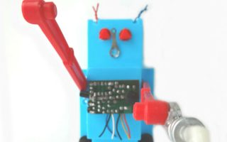 Recycled Toy Robot Project with Reverse Engineered Toys