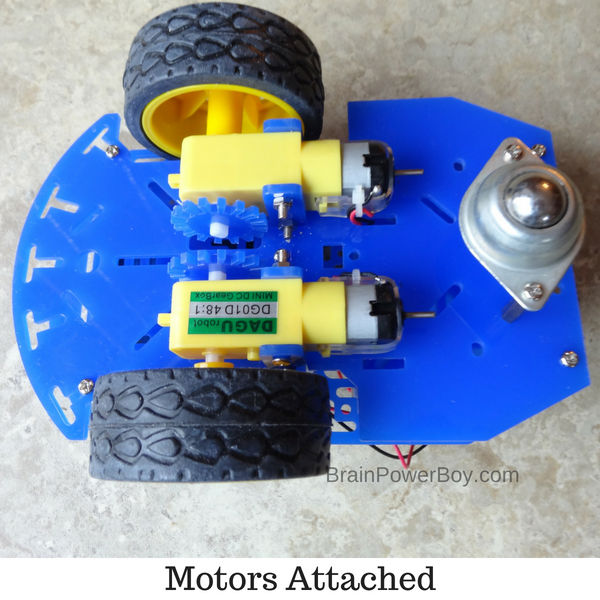 Motors and breadboards and wheels, oh my! (ad with Home Science Tools)