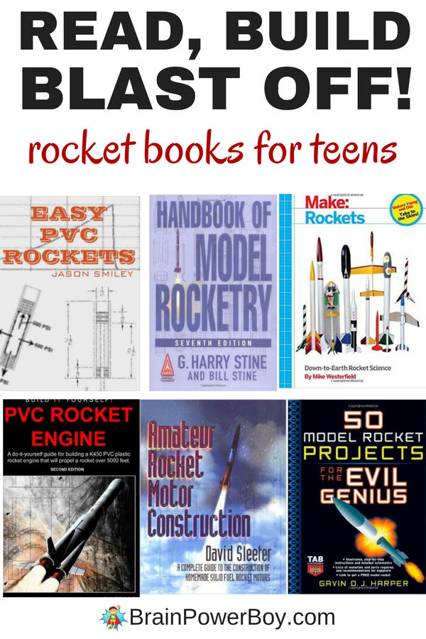 Hands-on DIY rocket projects! Read the books, build the rockets and send them into the sky. This book list has a great selection of rocket books for teens. Model rocketry is packed with learning opportunities and your teen will love shooting off their own rocket!