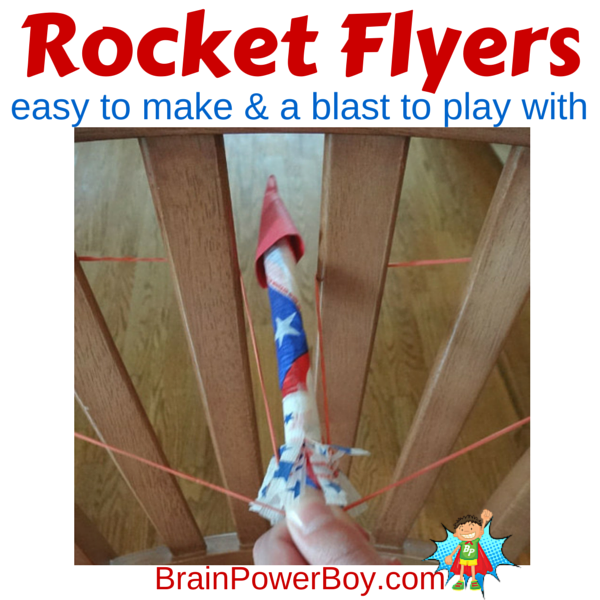 These Rocket Flyers are very easy to make and are so fun to shoot off. Construction tips on site.