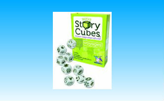 Rory's Story Cubes Voyages Review image of cubes