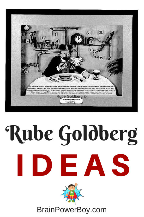 Rube Goldberg Contraptions are delightful ways to do something super simple in a complex and wonderful way. Try some Rube Goldberg Ideas today.