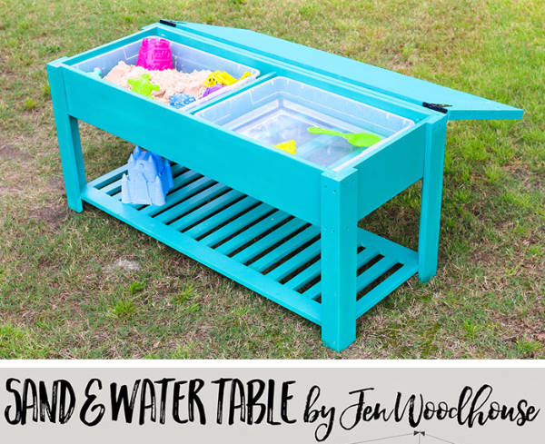 Sand and Water Table with Chalkboard Cover