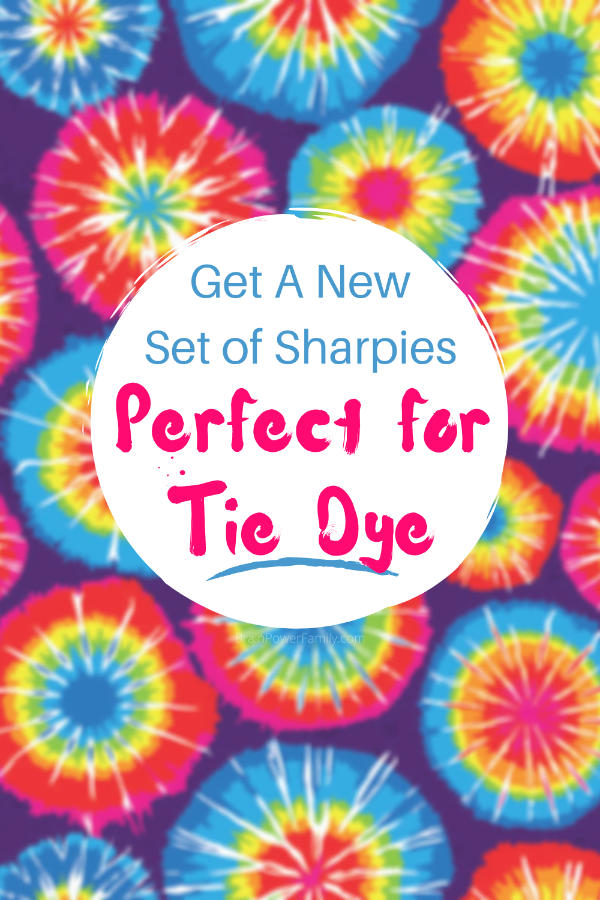 Get New Sharpies for Tie Dye Project with tie dye background