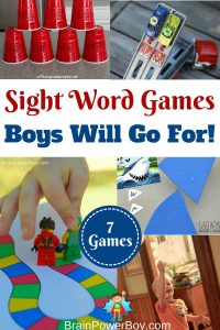 These sight word games are just what boys who are learning their sight words need. They make great activities for boys and are a lot of fun too!