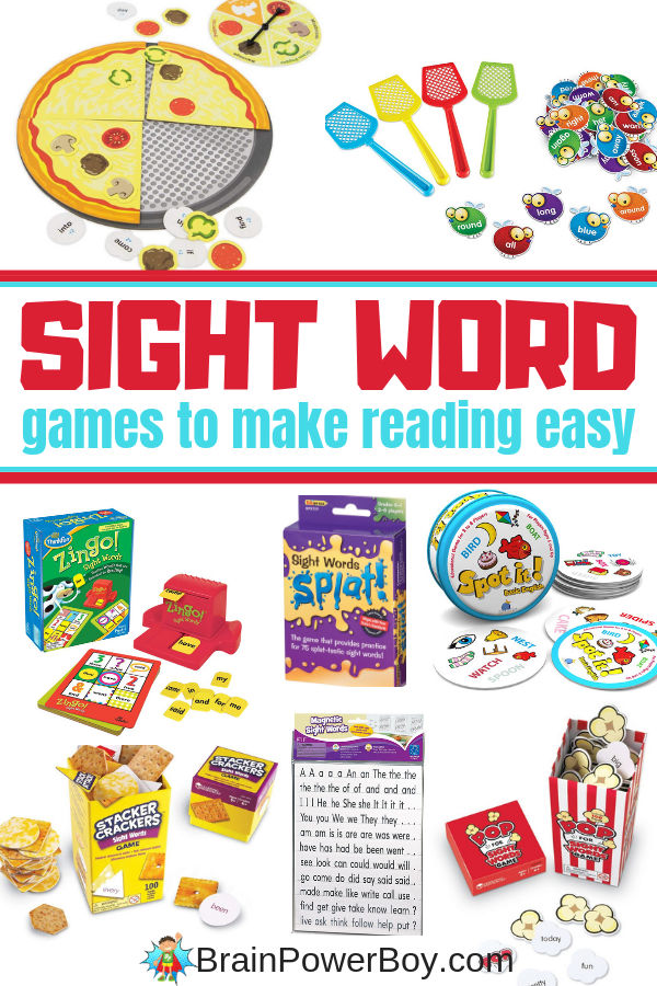 Sight Word Games to make reading easy.