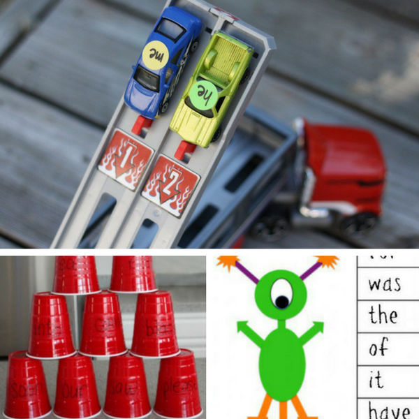 What do you get when you have aliens, crashing cups, and racing cars? Fun sight word games!!