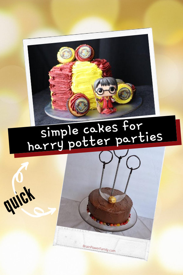 Simple Cakes for Harry Potter Parties