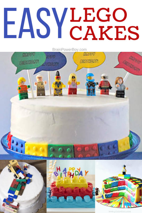 You CAN make these LEGO Cakes! All have recipes and instructions that you can follow. They look fantastic but are easy to do.