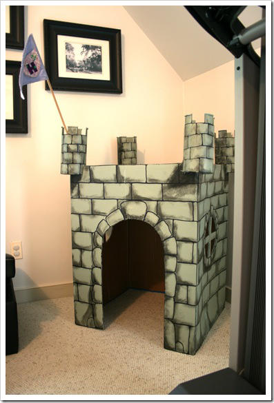 Small Castle made from Cardboard