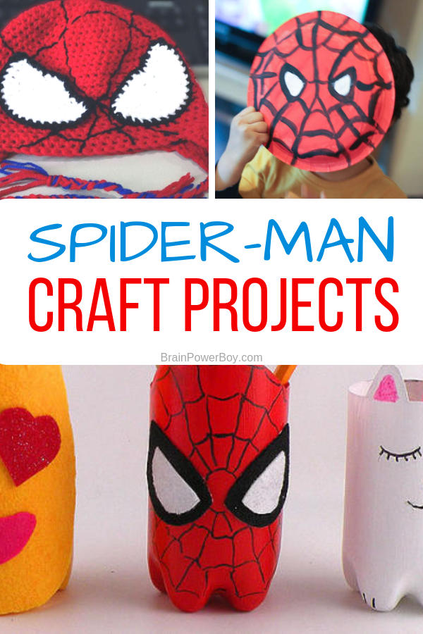 Need a fun superhero craft project? How about trying some Spider-man crafts? Click or tap for a lot of cool ideas!