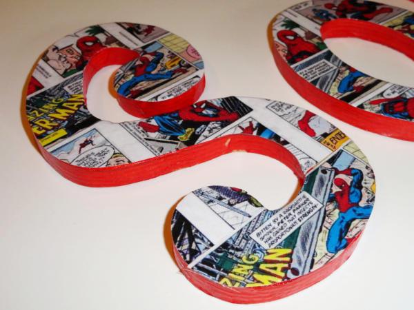 Spiderman Comic Letters