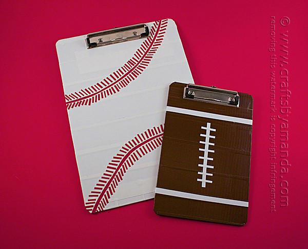 Football and Baseball Clipboards