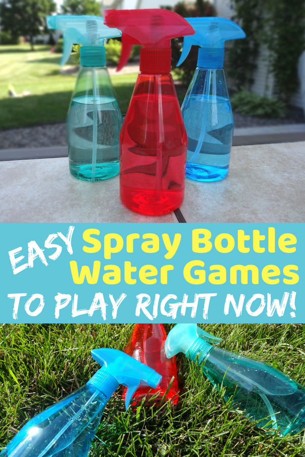 Grab the squirt bottles! It is time to play some easy squirt bottle games. The kids will be laughing and enjoying themselves in no time. (Part of more than 20 water games!)