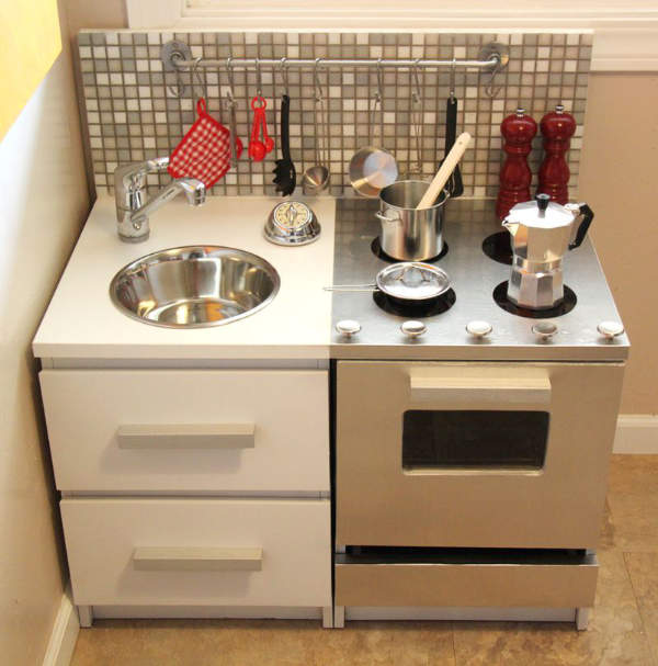 Stainless Play Kitchen