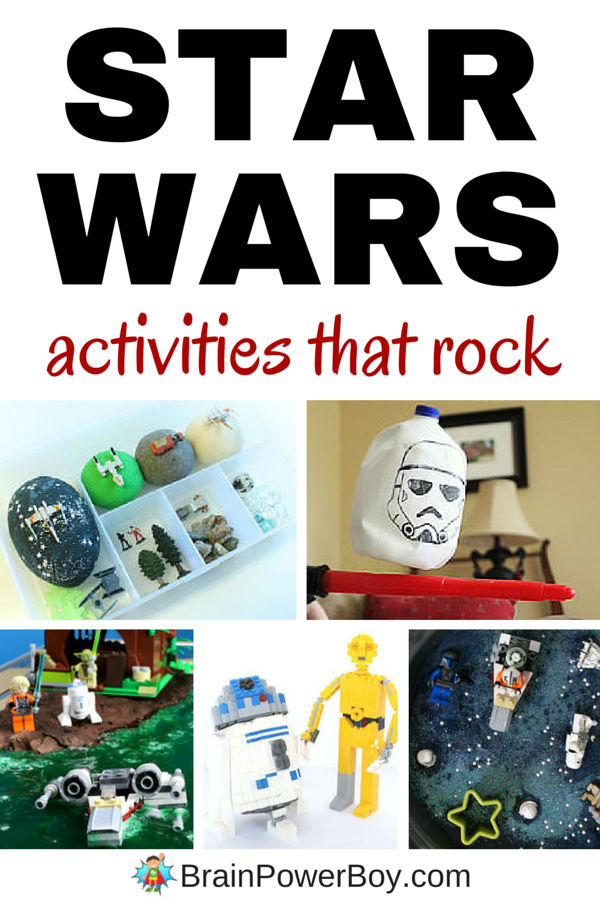 Awesome Star Wars activities that your kids are going to go crazy for. Click through for a super selection of Star Wars activity ideas for Star Wars day or any time. May the 4th be with you.