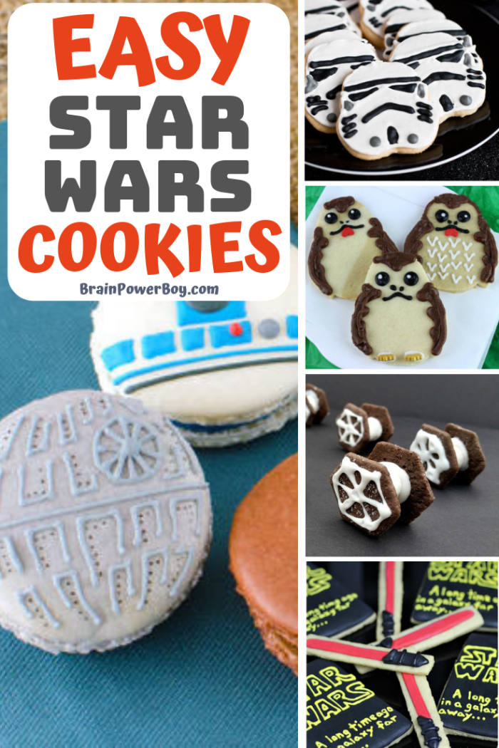 These are some fun ideas for making Star Wars Cookies. They would be great to serve at a Star Wars party or, of course, any day of the week!