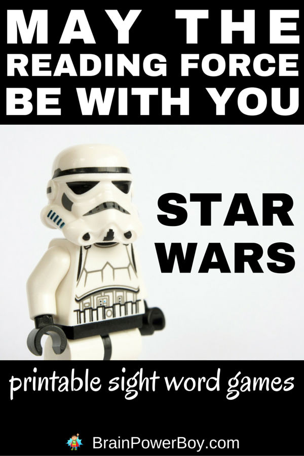 image regarding Printable Sight Word called Star Wars Printable Sight Phrase Video games