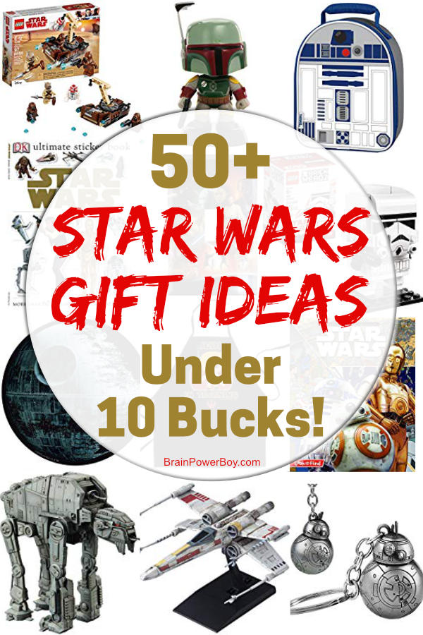 It's true! See over 50 Star Wars gift ideas that are under 10 bucks each. Star Wars fans are really going to love these! There is something awesome for everyone! Grab a cheap Star Wars gift for kids, for him, for her, for everybody! Click or tap to see them all.