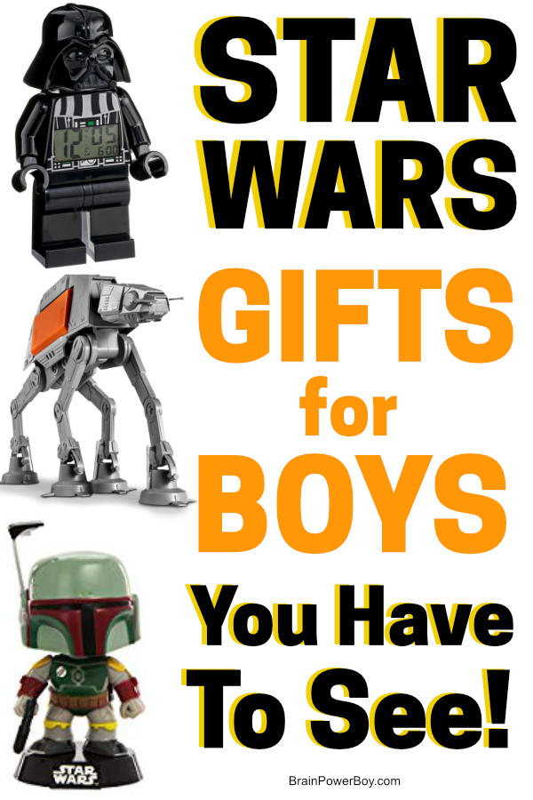 You have to see these Star Wars gifts for boys. They are awesome!