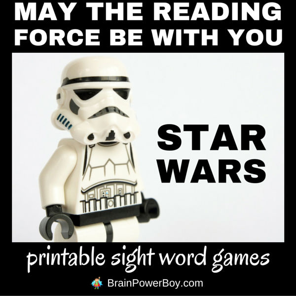 Want some free Star Wars printable sight word games?! These are great for your Star Wars lovin', lightsaber swingin' kids who are learning to read. Click image to see the games. May the reading force be with you.