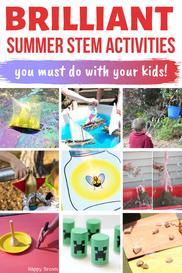 You must do these Summer STEM Activities with your kids! They are SO. Much. Fun!!