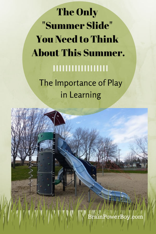 Boys' Learning and Summer Slide. Is the playground slide the only slide you need to think about this summer? | BrainPowerBoy
