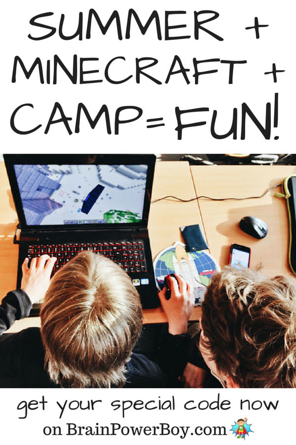 Are you looking for a fun and engaging summer camp for your kids? You have to take a look at this one. One word - Minecraft! Get a special code on BrainPowerBoy.com