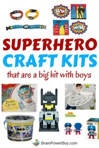BOOM! POW! BANG! These are the very best superhero craft kits out there that have awesome boy appeal! These are a BIG hit with boys!! Click to see them all now.