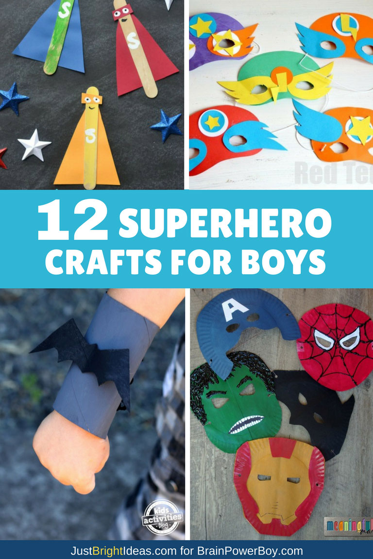 Super Cool Superhero Crafts For Boys They Will Love To Make Them