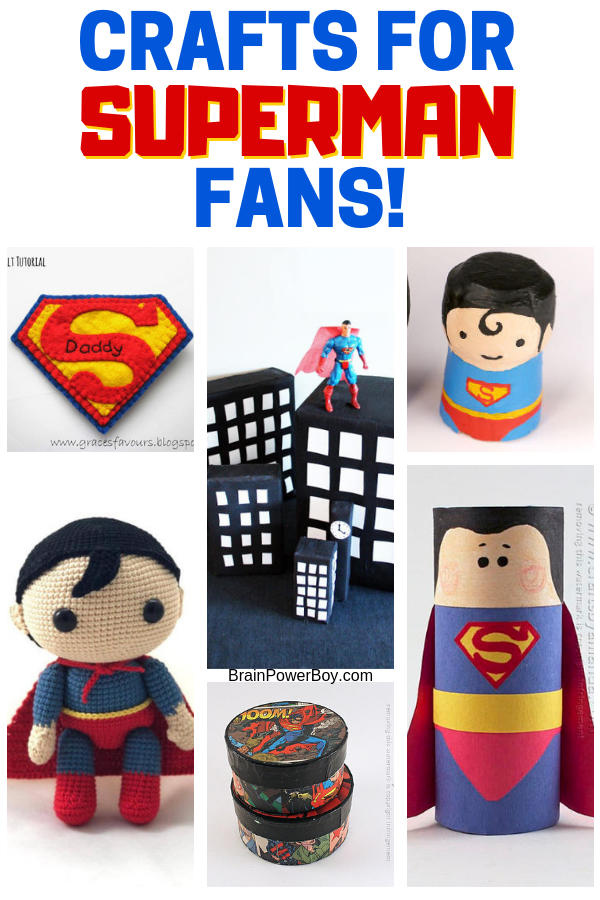Superman Crafts You'll Really Want to Make!