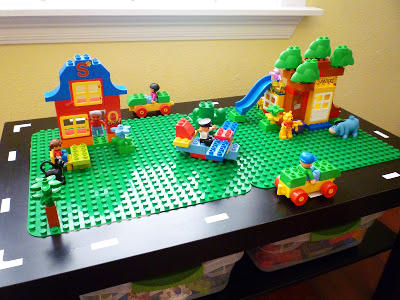 Table with Two Duplo Plates