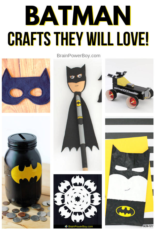 Don't miss the best Batman crafts out there! You and your kids are going to love these!