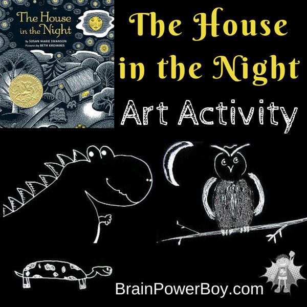 Fun book activity to go with the Caldecott Medal book The House in the Night. Try a new art materials and an interesting art technique.