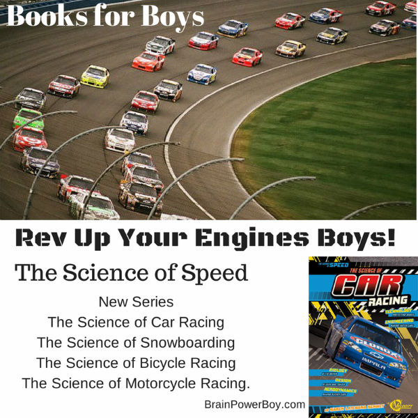 The Science of Car Racing Book Review. Great series of books for boys. | BrainPowerBoy