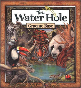 The Water Hole is more than just an alphabet book it is a puzzle book too