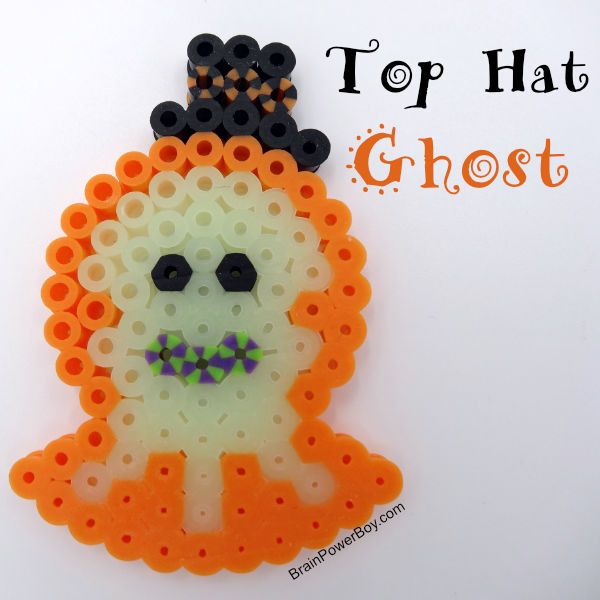 Halloween Ghost wearing a hat completed project