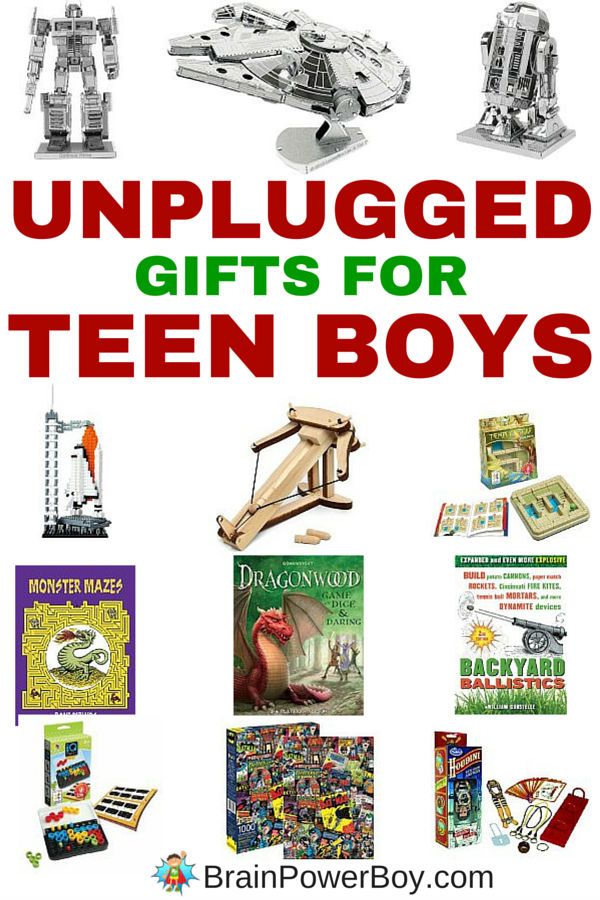 Amazing Inexpensive Gifts for Teenage Boys: Unplugged